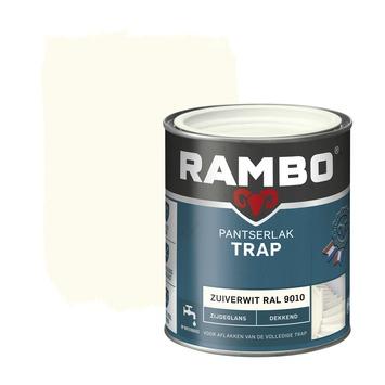 Rambo pantserlak trap dekkend zijdeglans zuiverwit 750 ml