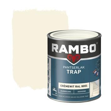 Rambo pantserlak trap dekkend zijdeglans cremewit 750 ml