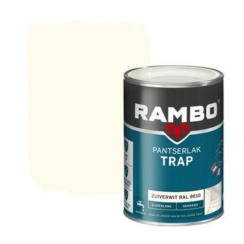 Rambo pantserlak trap dekkend zijdeglans zuiverwit 1,25 l