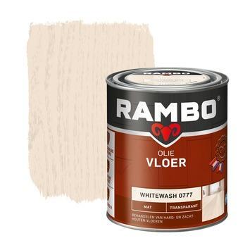 Rambo rambo vloer olie tr mat whitewash whitewash 750 ml