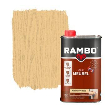 Rambo meubel olie transparant mat kleurloos 0,5 l