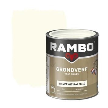 Rambo grondverf dekkend mat zuiverwit 750 ml