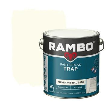 Rambo pantserlak trap dekkend zijdeglans zuiverwit 2,5 l