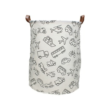 Mand bag textiel print 3 mix 40x33x33 cm