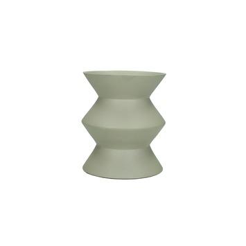 Vaas aluminium grijs 13x11.5x11.5 cm