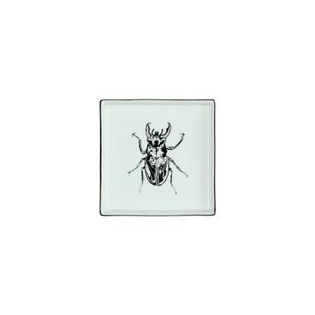Onderzetter keramiek insect zwart 2x16.5x16.5 cm
