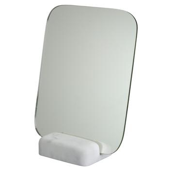 Spiegel in marmeren houder 23x18 cm