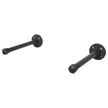 Duraline industriële plankdrager pipe zwart 2 stuks