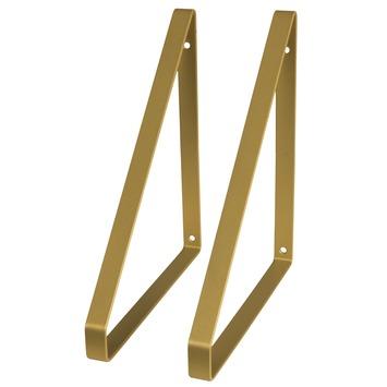 Duraline plankdrager metaal messing 2 stuks