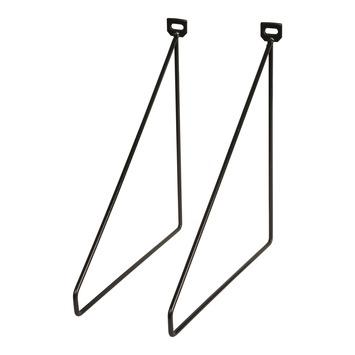 Duraline plankdrager metaal zwart 2 stuks