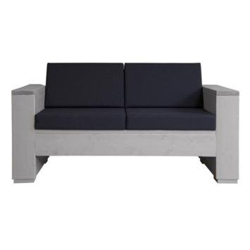 Kussenset loungebank antraciet 2- zits 2 rug- en 2 zitkussen