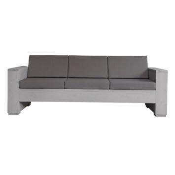 Kussenset loungebank taupe 3-zits 3 rug- en 3 zitkussen