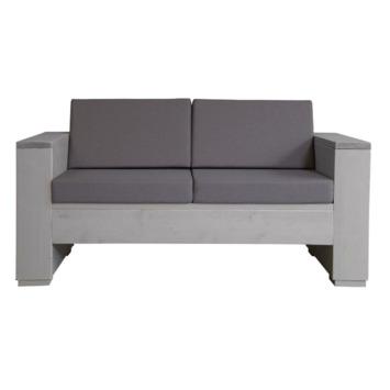 Kussenset loungebank taupe 2-zits 2 rug- en 2 zitkussen