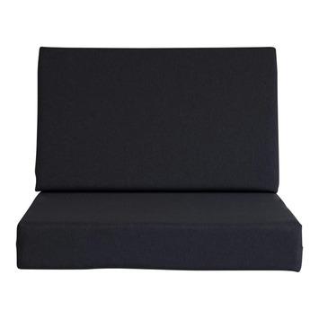 Kussenset recht antraciet 1 rug- en 1 zitkussen