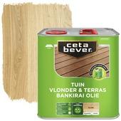 Cetabever vlonder- & terrasolie bankirai transparant blank zijdemat 2,5 l