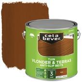 Cetabever tuinbeits vlonder & terras antislip transparant teak zijdeglans 2,5 l