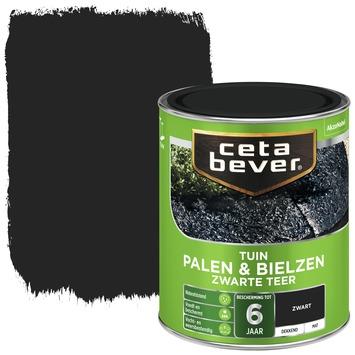 Cetabever palen & bielzen zwarte teer mat 750 ml