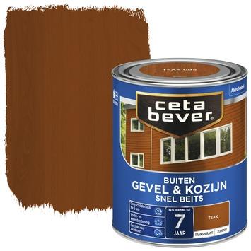 Cetabever snel beits gevel & kozijn transparant teak zijdemat 750 ml