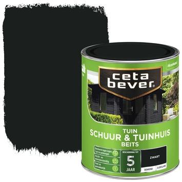Cetabever tuinbeits schuur & tuinhuis dekkend zwart 750 ml