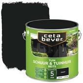 Cetabever Schuur & tuinhuis beits dekkend zwart zijdeglans 2,5 l
