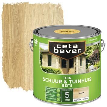 Cetabever tuinbeits schuur & tuinhuis transparant blank zijdeglans 2,5 l
