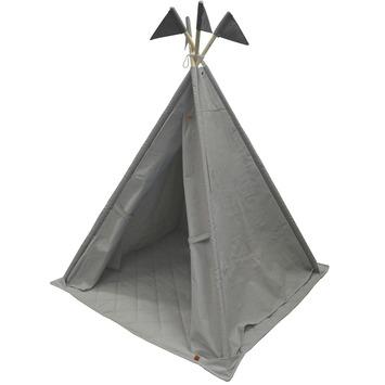 Overseas tipi Brett canvas met vlaggen smoke 140x112 cm