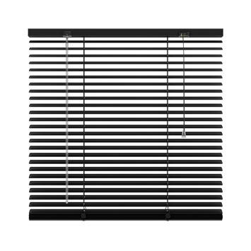 KARWEI horizontale aluminium jaloezie 25 mm mat zwart (320) 60 x 130 cm (bxh)