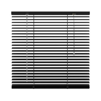 KARWEI horizontale aluminium jaloezie 25 mm mat zwart (320) 140 x 180 cm (bxh)