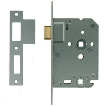 NEMEF insteekslot badkamerslot/wc-slot met gelakte voorplaat Doorn 50mm PC 63mm