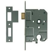 NEMEF 1200 serie insteekcilinderslot binnendeur met wit gelakte voorplaat Doorn 50mm PC 55mm