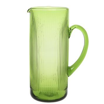 Kan glas groen streepmotief 26x18x11 cm