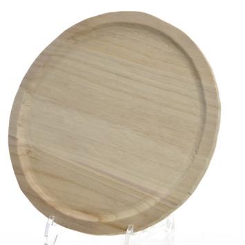 Tray paulowniahout rond 1,8x36x36 cm