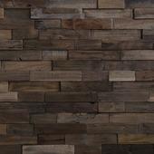 Wandbekleding Teak Charred brown (ca. 1 m2)