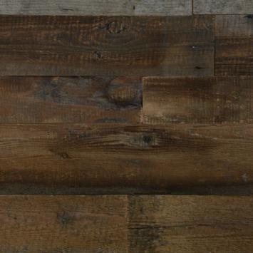 Wandbekleding Barnwood 3D Brown (ca. 0.8 m2)