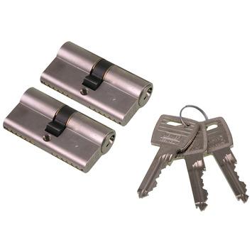 NEMEF veiligheidscilinder 30/30 mm SKG 2-sterren gelijksluitend (2 stuks)