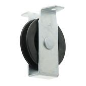 Katrol staand met polypropyleen wiel zwart 60 mm