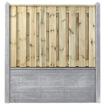 Houtbetonschutting compleet met gratis plaatsing, lengte 10 t/m 10,5 meter