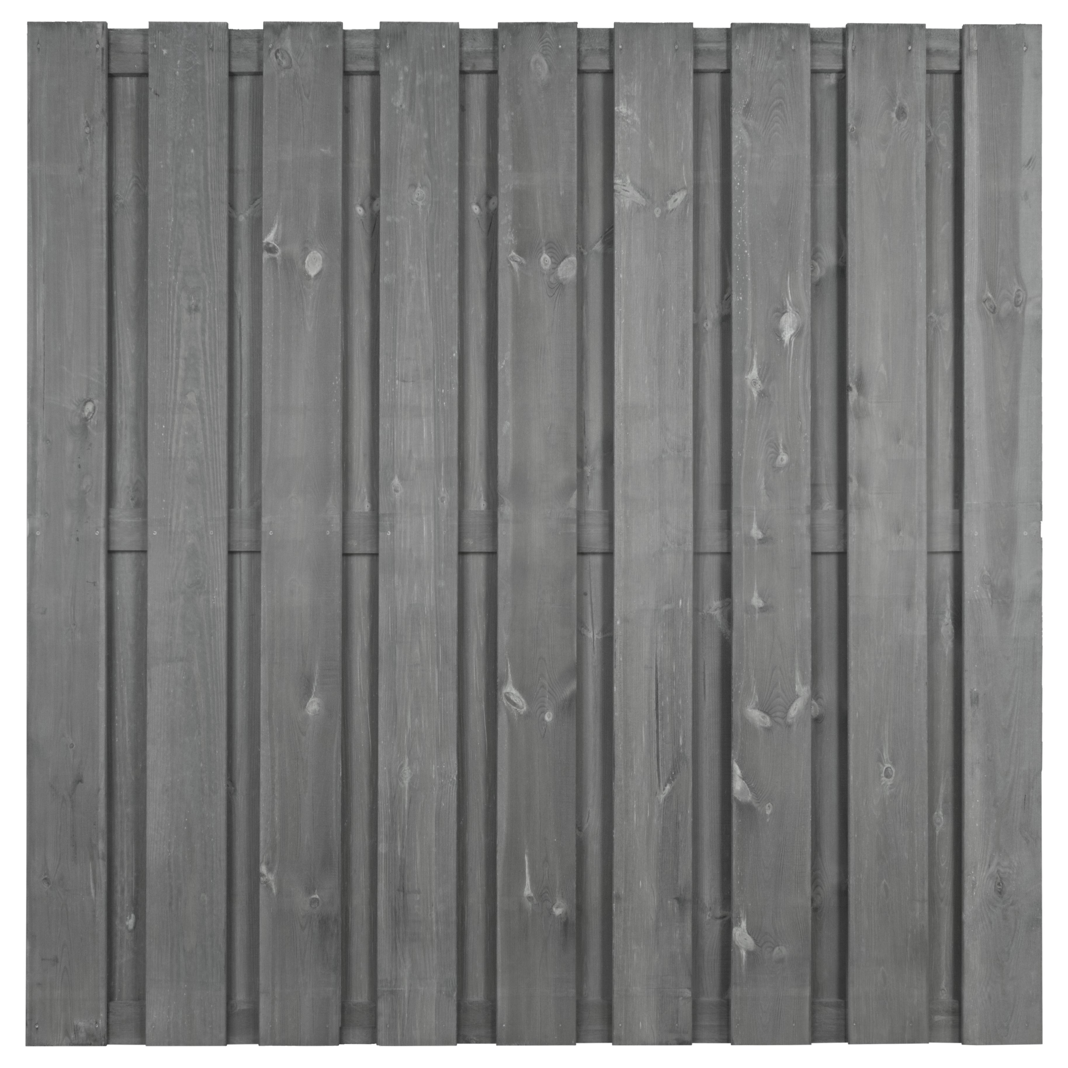 Schutting Royal grijs grenenhout ca. 180x180 cm recht