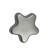 Knop ster grijs 35 mm