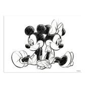Canvas Mickey Sketch Sitting 50x40 cm