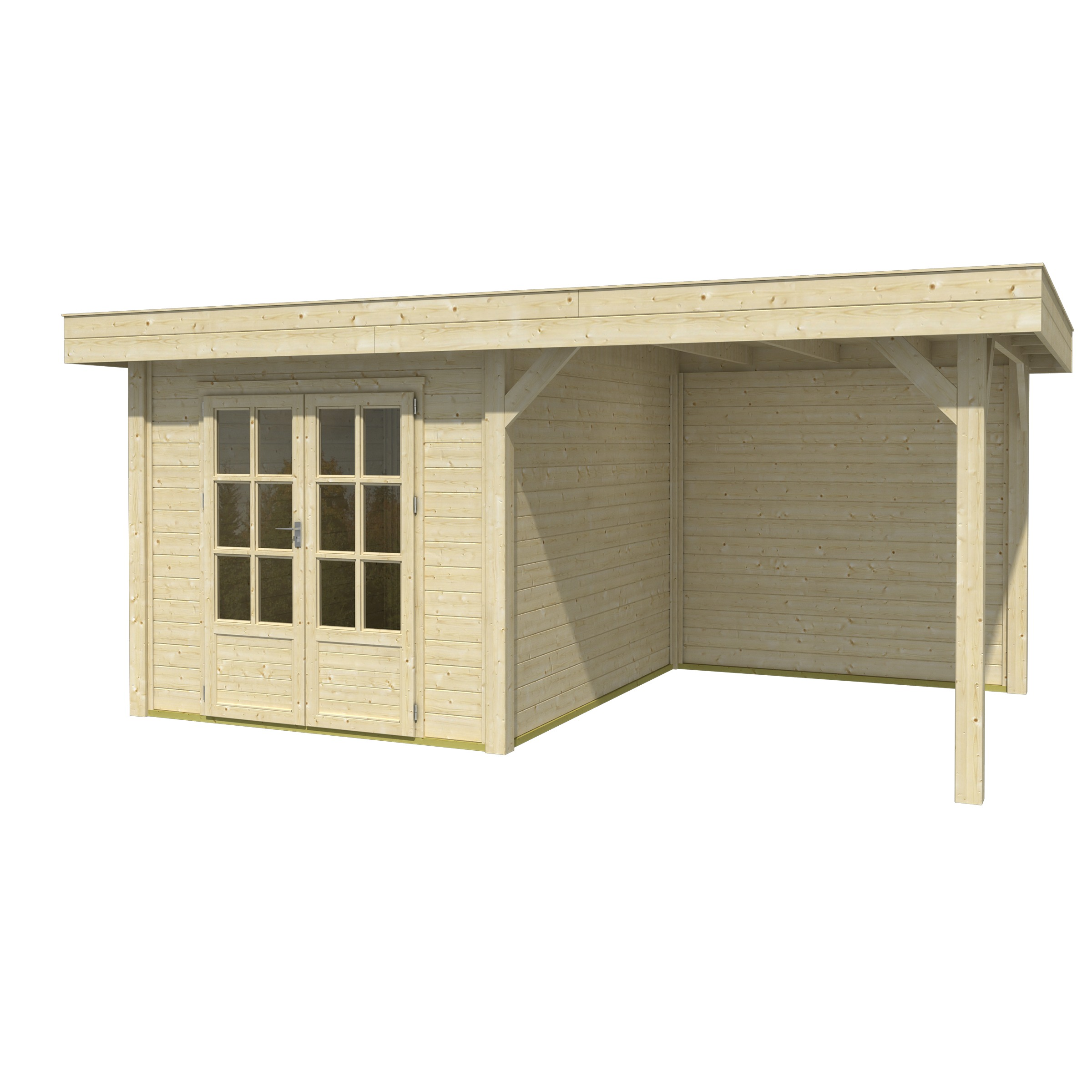 OLP Outdoor Life Products Tuinhuis met Overkapping Outdoor Living 5030 Extra