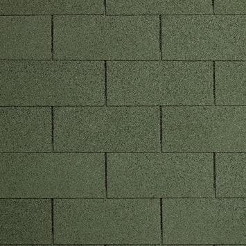 Shingles groen voor garage Ohio incl. nagels 9 stuks 27 m²
