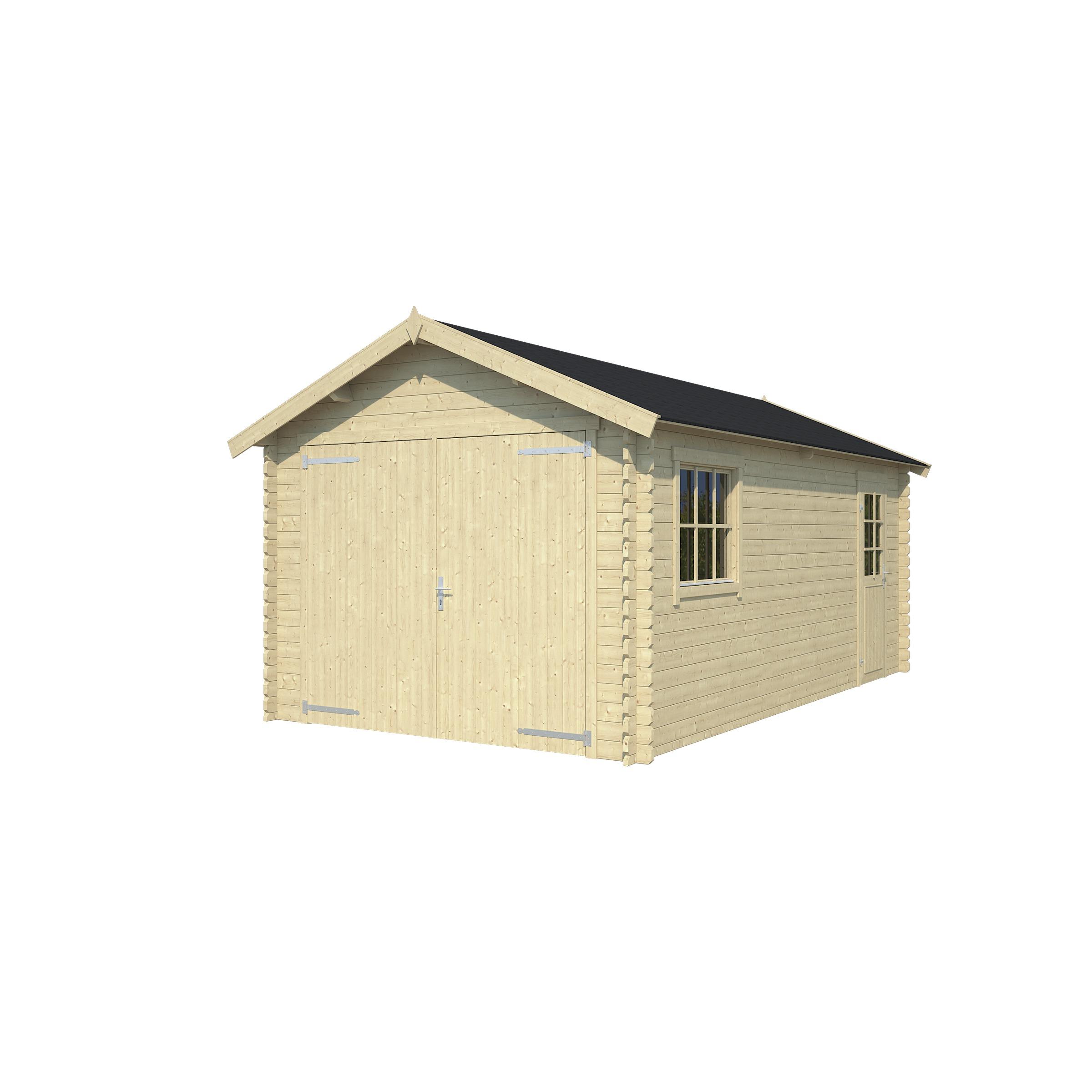 Garage Ohio Onbehandeld Hout Blank 320x560 cm