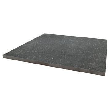 Terrastegel Keramisch Solid Stone Spots Zwart 60x60 cm - 2 Tegels / 0,72 m2