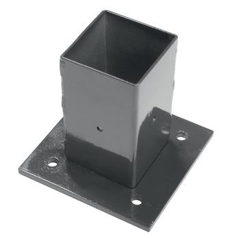 Voet voor vierkante paal antraciet 60/60 mm