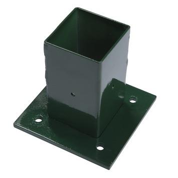 Voet voor vierkante paal groen 60/60 mm