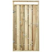 Poort voor houtbetonschutting Grenen, breedte 110 cm linksdraaiend