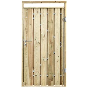 Poort voor houtbetonschutting Grenen, breedte 110 cm rechtsdraaiend