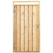 Poort voor houtbetonschutting Douglas, breedte 110 cm linksdraaiend