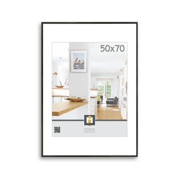 Fotolijst kunststof zwart 50x70 cm